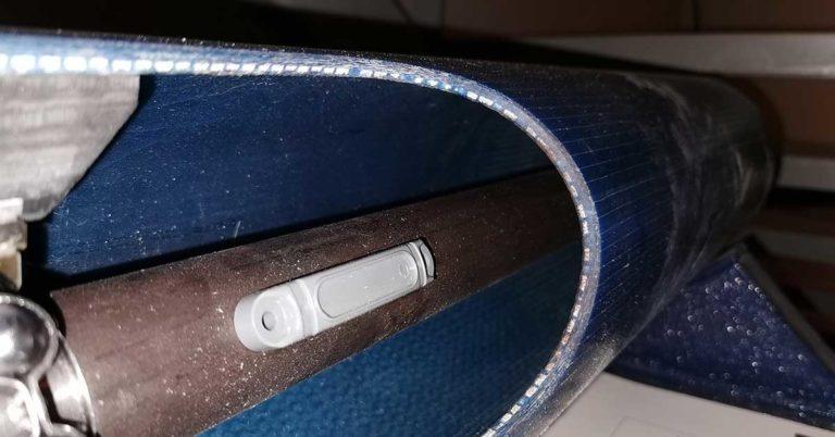 På innsiden av et rør merket med en rfid tag