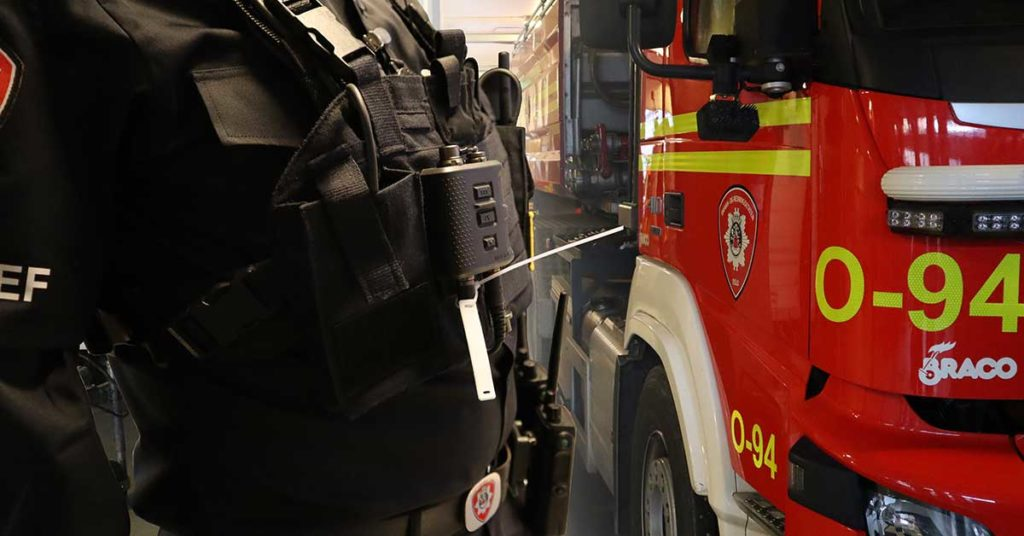 rfid utstyr brannmann og brannbil