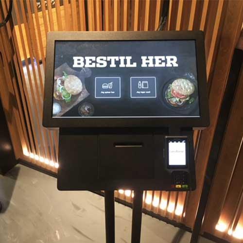 kiosk i en restaurant
