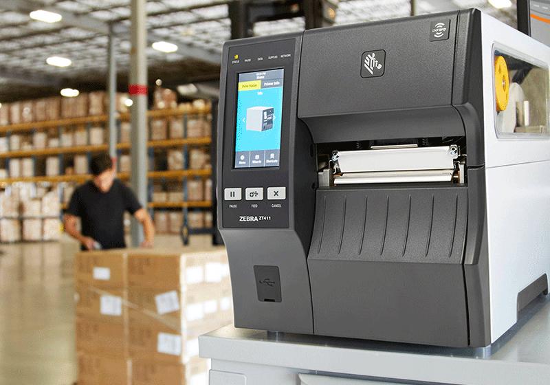 Printer på et lager